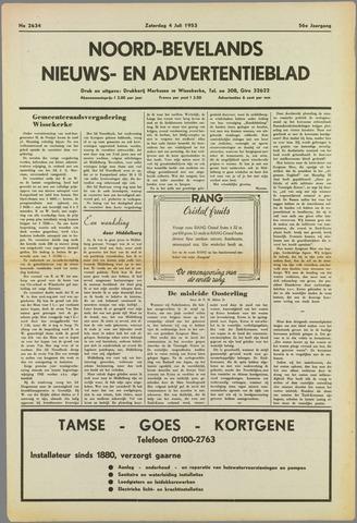 Noord-Bevelands Nieuws- en advertentieblad 1953-07-04