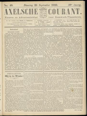 Axelsche Courant 1923-09-25