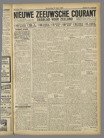 Nieuwe Zeeuwsche Courant 1922-04-27