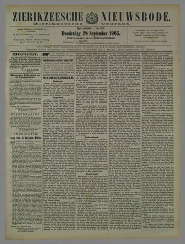 Zierikzeesche Nieuwsbode 1905-09-28