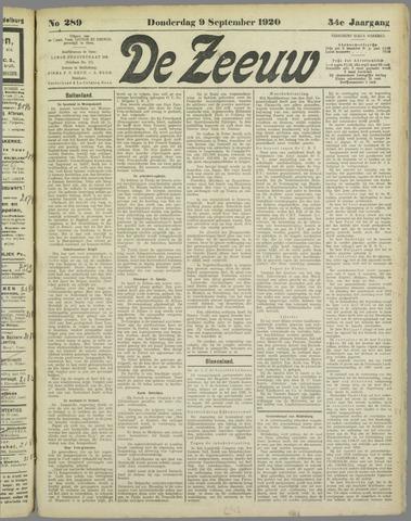 De Zeeuw. Christelijk-historisch nieuwsblad voor Zeeland 1920-09-09