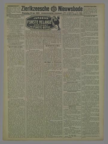 Zierikzeesche Nieuwsbode 1923-01-10