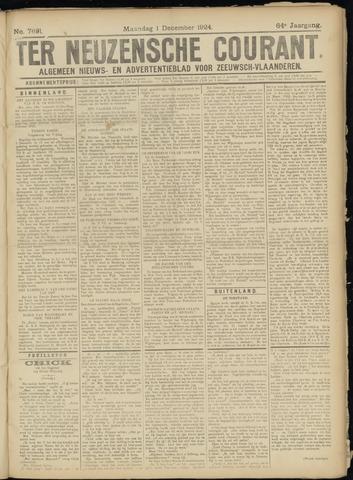 Ter Neuzensche Courant. Algemeen Nieuws- en Advertentieblad voor Zeeuwsch-Vlaanderen / Neuzensche Courant ... (idem) / (Algemeen) nieuws en advertentieblad voor Zeeuwsch-Vlaanderen 1924-12-01