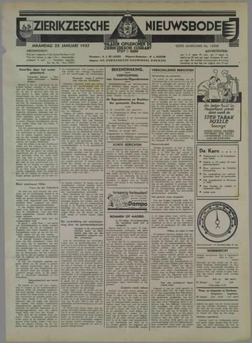 Zierikzeesche Nieuwsbode 1937-01-25