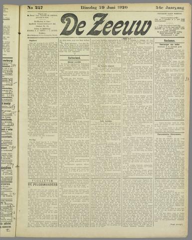 De Zeeuw. Christelijk-historisch nieuwsblad voor Zeeland 1920-06-29