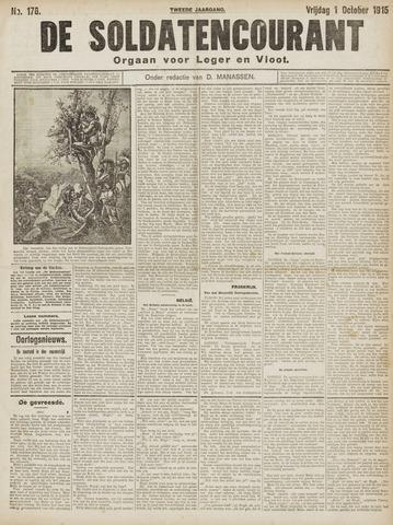De Soldatencourant. Orgaan voor Leger en Vloot 1915-10-01