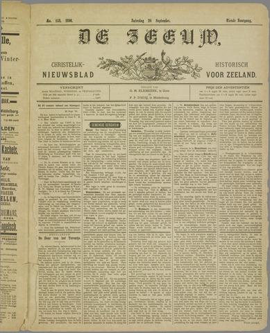 De Zeeuw. Christelijk-historisch nieuwsblad voor Zeeland 1896-09-26