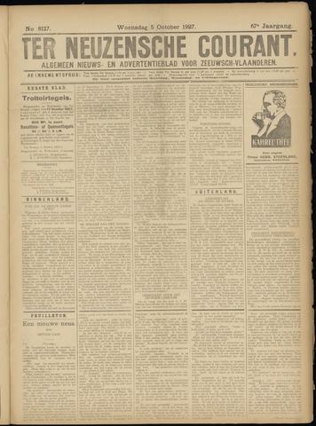 Ter Neuzensche Courant. Algemeen Nieuws- en Advertentieblad voor Zeeuwsch-Vlaanderen / Neuzensche Courant ... (idem) / (Algemeen) nieuws en advertentieblad voor Zeeuwsch-Vlaanderen 1927-10-05
