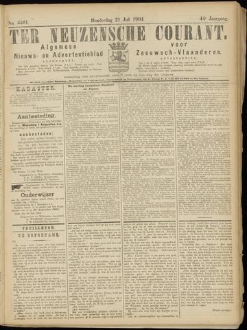 Ter Neuzensche Courant. Algemeen Nieuws- en Advertentieblad voor Zeeuwsch-Vlaanderen / Neuzensche Courant ... (idem) / (Algemeen) nieuws en advertentieblad voor Zeeuwsch-Vlaanderen 1904-07-21