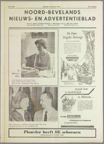 Noord-Bevelands Nieuws- en advertentieblad 1964-02-15