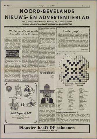 Noord-Bevelands Nieuws- en advertentieblad 1966-11-05
