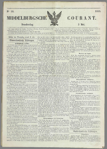 Middelburgsche Courant 1855-05-03
