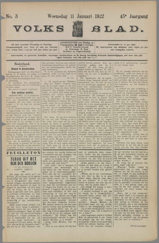 Volksblad 1922-01-11