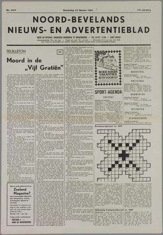 Noord-Bevelands Nieuws- en advertentieblad 1984-02-23