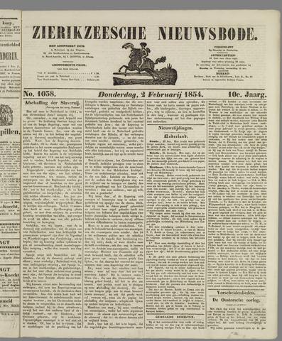 Zierikzeesche Nieuwsbode 1854-02-02