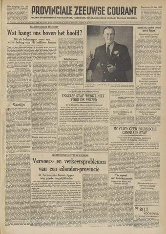Provinciale Zeeuwse Courant 1951-06-28