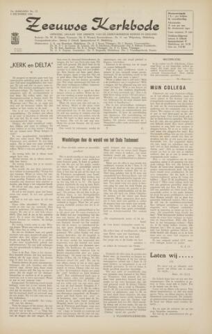 Zeeuwsche kerkbode, weekblad gewijd aan de belangen der gereformeerde kerken/ Zeeuwsch kerkblad 1966-12-02