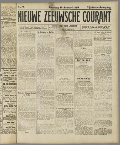 Nieuwe Zeeuwsche Courant 1919-01-18