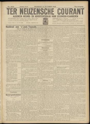 Ter Neuzensche Courant. Algemeen Nieuws- en Advertentieblad voor Zeeuwsch-Vlaanderen / Neuzensche Courant ... (idem) / (Algemeen) nieuws en advertentieblad voor Zeeuwsch-Vlaanderen 1938-10-31