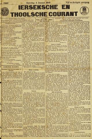 Ierseksche en Thoolsche Courant 1919-01-04