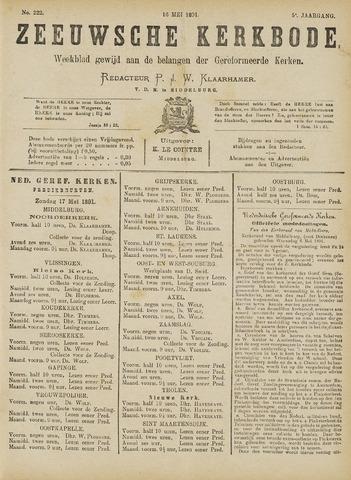 Zeeuwsche kerkbode, weekblad gewijd aan de belangen der gereformeerde kerken/ Zeeuwsch kerkblad 1891-05-16