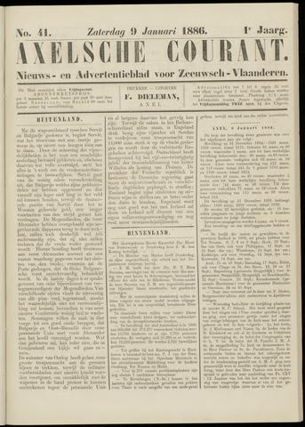 Axelsche Courant 1886-01-09