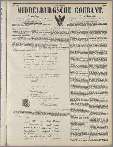 Middelburgsche Courant 1903-09-07