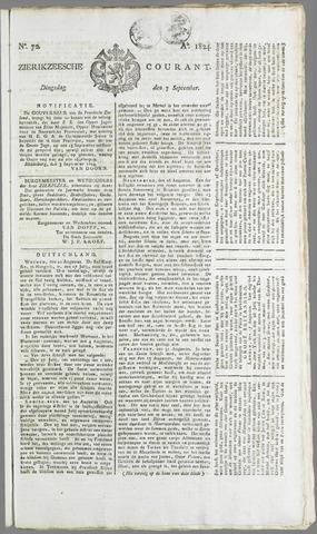 Zierikzeesche Courant 1824-09-07
