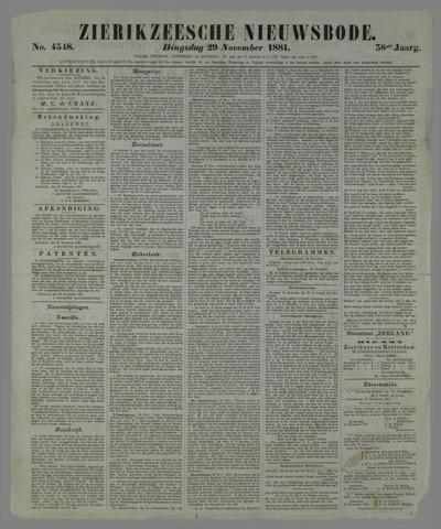 Zierikzeesche Nieuwsbode 1881-11-29