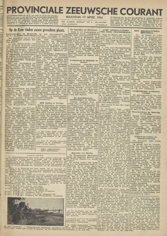 Provinciale Zeeuwse Courant 1944-04-17