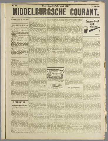 Middelburgsche Courant 1927-02-05