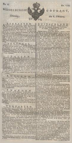 Middelburgsche Courant 1777-02-08