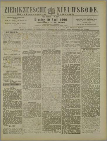 Zierikzeesche Nieuwsbode 1906-04-10