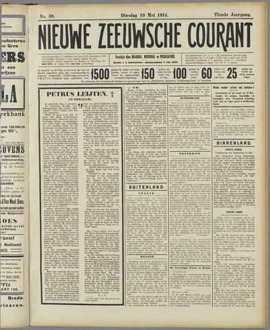 Nieuwe Zeeuwsche Courant 1914-05-19