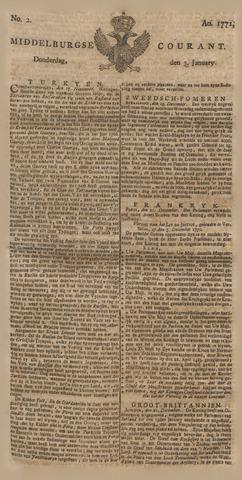 Middelburgsche Courant 1771-01-03