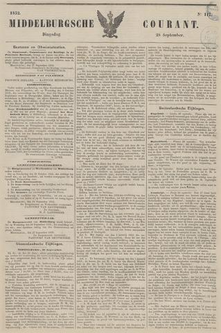Middelburgsche Courant 1852-09-28