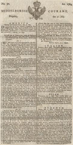 Middelburgsche Courant 1764-07-31