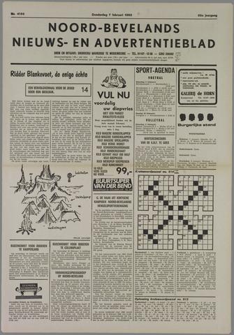 Noord-Bevelands Nieuws- en advertentieblad 1985-02-07