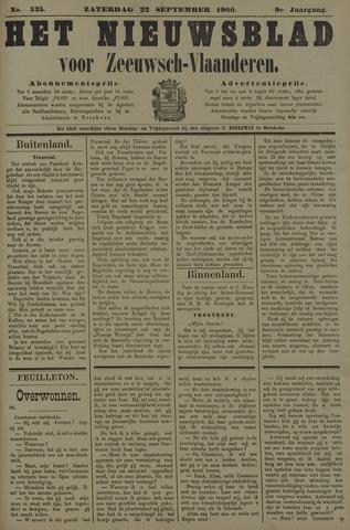 Nieuwsblad voor Zeeuwsch-Vlaanderen 1900-09-22