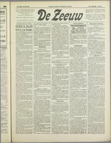 De Zeeuw. Christelijk-historisch nieuwsblad voor Zeeland 1934-06-16