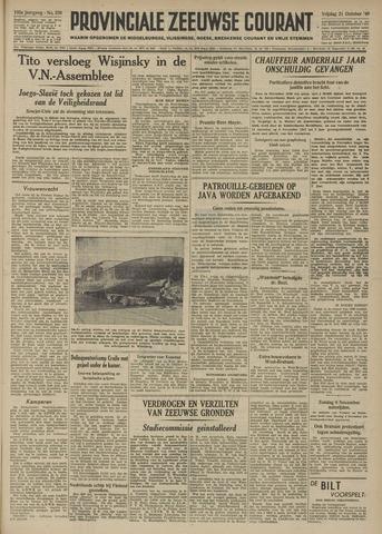 Provinciale Zeeuwse Courant 1949-10-21