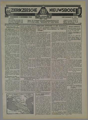 Zierikzeesche Nieuwsbode 1942-11-04