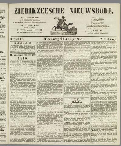 Zierikzeesche Nieuwsbode 1865-06-21