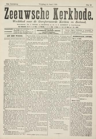 Zeeuwsche kerkbode, weekblad gewijd aan de belangen der gereformeerde kerken/ Zeeuwsch kerkblad 1920-06-04