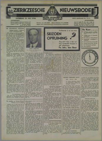 Zierikzeesche Nieuwsbode 1936-07-25