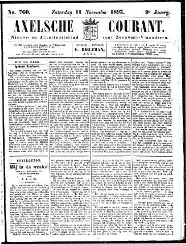 Axelsche Courant 1893-11-11