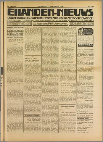Eilanden-nieuws. Christelijk streekblad op gereformeerde grondslag 1936-12-12