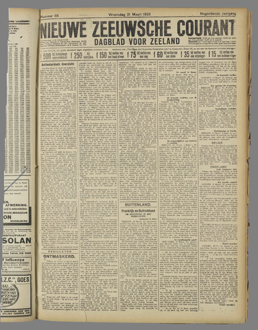 Nieuwe Zeeuwsche Courant 1923-03-21