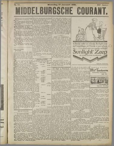 Middelburgsche Courant 1921-01-17