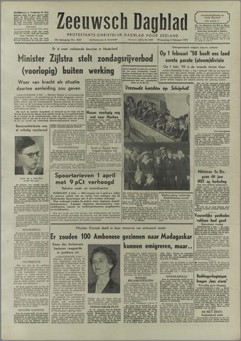 Zeeuwsch Dagblad 1957-02-06